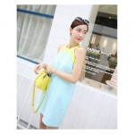 Colorblock Smock Dress
