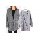 Jacket In Longline And Texture